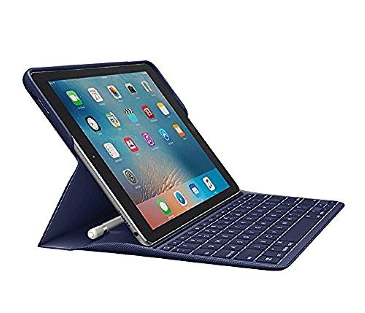 ボタン家主腐ったLogitech Create: バックライト付きワイヤレスキーボード スマートコネクター付き -  iPad Pro 9.7インチ (プラム) ブルー 920-008121