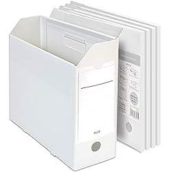 プラス ファイルボックス PPボックスファイル+ A4 ホワイト 5個セット 76-006×5