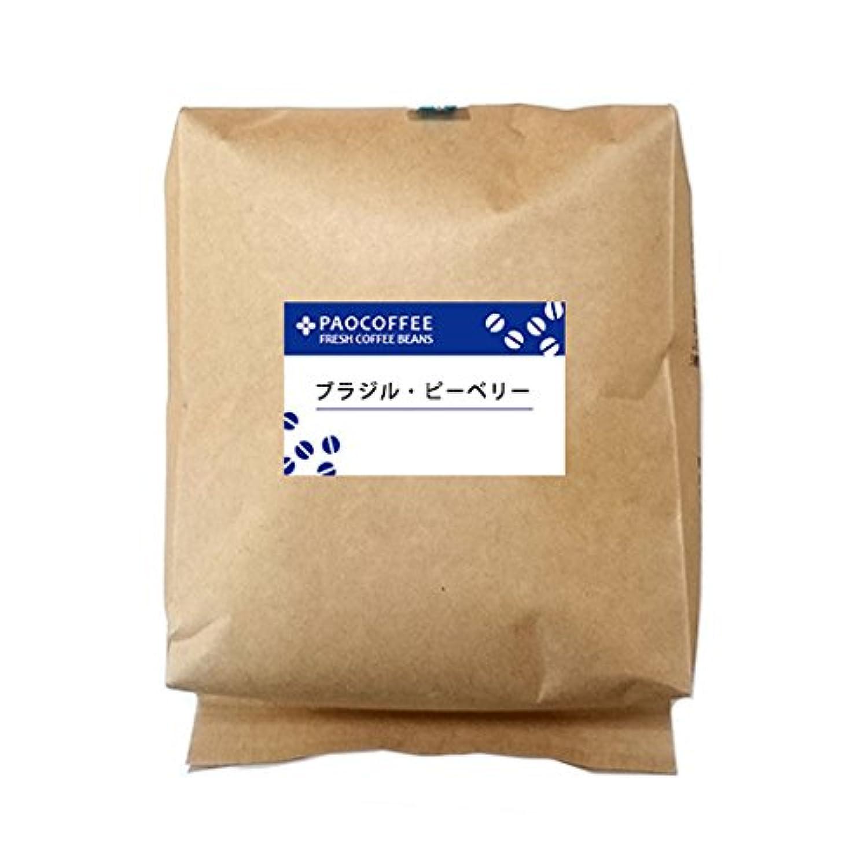 【自家焙煎コーヒー豆】業務用 ブラジル?ピーベリー 500g (粗挽き)