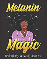 "Black Girl Magic 2020 Weekly Planner Book: Pregnant Mom Black Girl Magic Peace To Queens Who Raise | 2020 Calendar | Goals | Gratitude | African American | 8 x 10"" Large