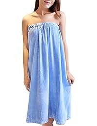 Zhuhaitf 成人の快適なホーム浴パジャマ Adult Womens Charming Sleeveless Comfortable Cotton Bath Skirt Nightgown-One Size