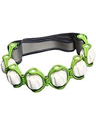 chiwanji トリガーポイントノードローリングボール付きハンドヘルドフルボディマッサージローラーロープ - 緑, 説明したように