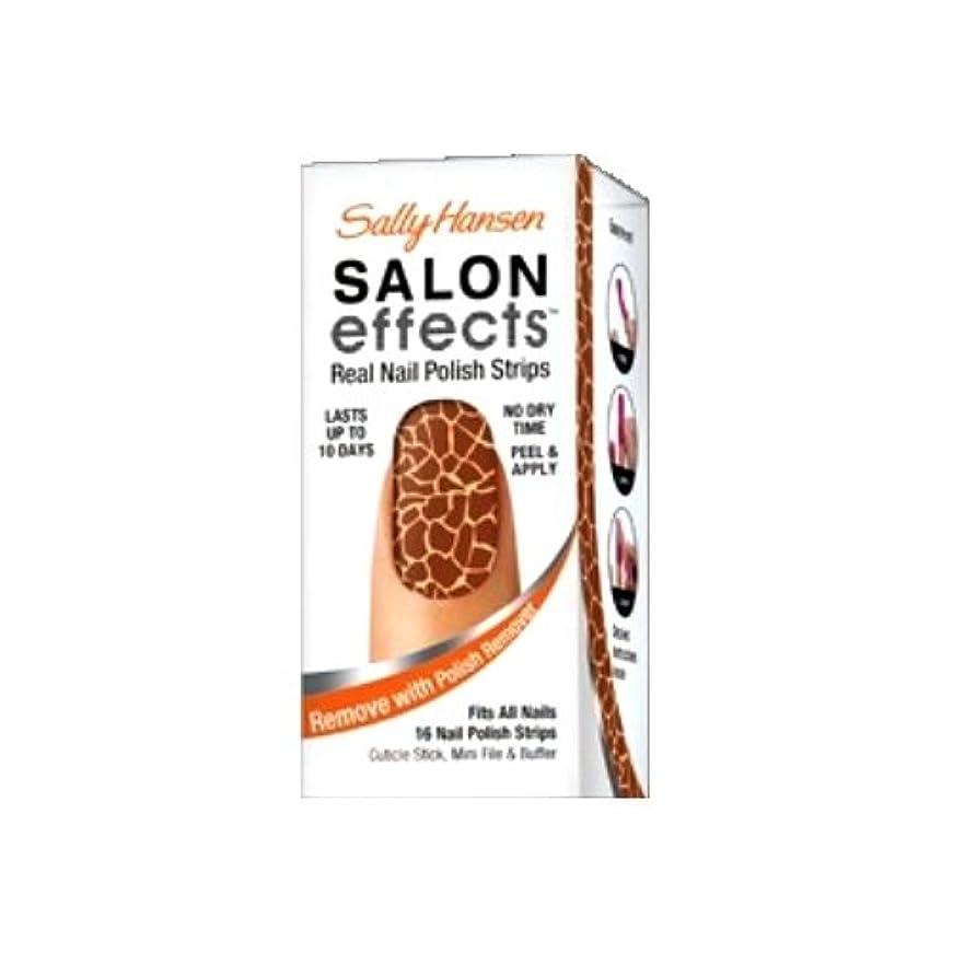 話をする姿勢したいSALLY HANSEN Salon Effects Real Nail Polish Strips 2 - Queen of the Jungle (並行輸入品)