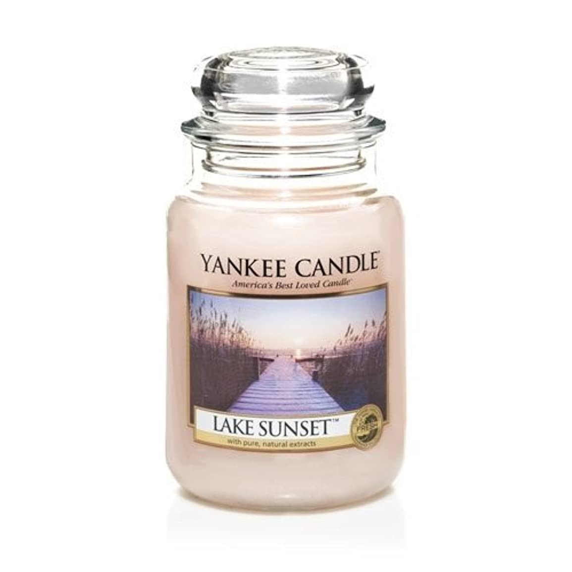 謎ハーブYankee Candle LAKE SUNSET 22 oz Large Jar Candle - New for Fall 2013 by Yankee Candle [並行輸入品]