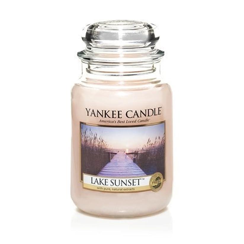 慎重薄いです劇場Yankee Candle LAKE SUNSET 22 oz Large Jar Candle - New for Fall 2013 by Yankee Candle [並行輸入品]