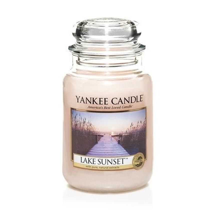 乳製品幸運なことにテロリストYankee Candle LAKE SUNSET 22 oz Large Jar Candle - New for Fall 2013 by Yankee Candle [並行輸入品]