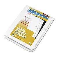 kleer-fax 8225080000シリーズ法的インデックス仕切り、サイドタブ、プリント50、25-pack
