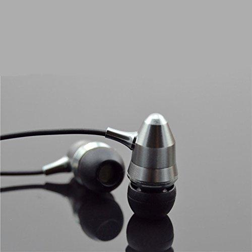 CollectionAudio 弾丸王 カナル型 イヤホン 高音質 ヘッドフォン 重低音 BASS 遮音 シルバー CA002