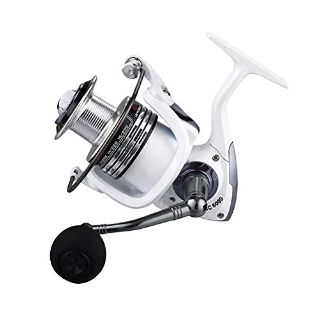 メロンヒント意気込みVORCOOL hc3000釣りリールアルミニウム海水または淡水釣り用の釣りリール(パールホワイト)