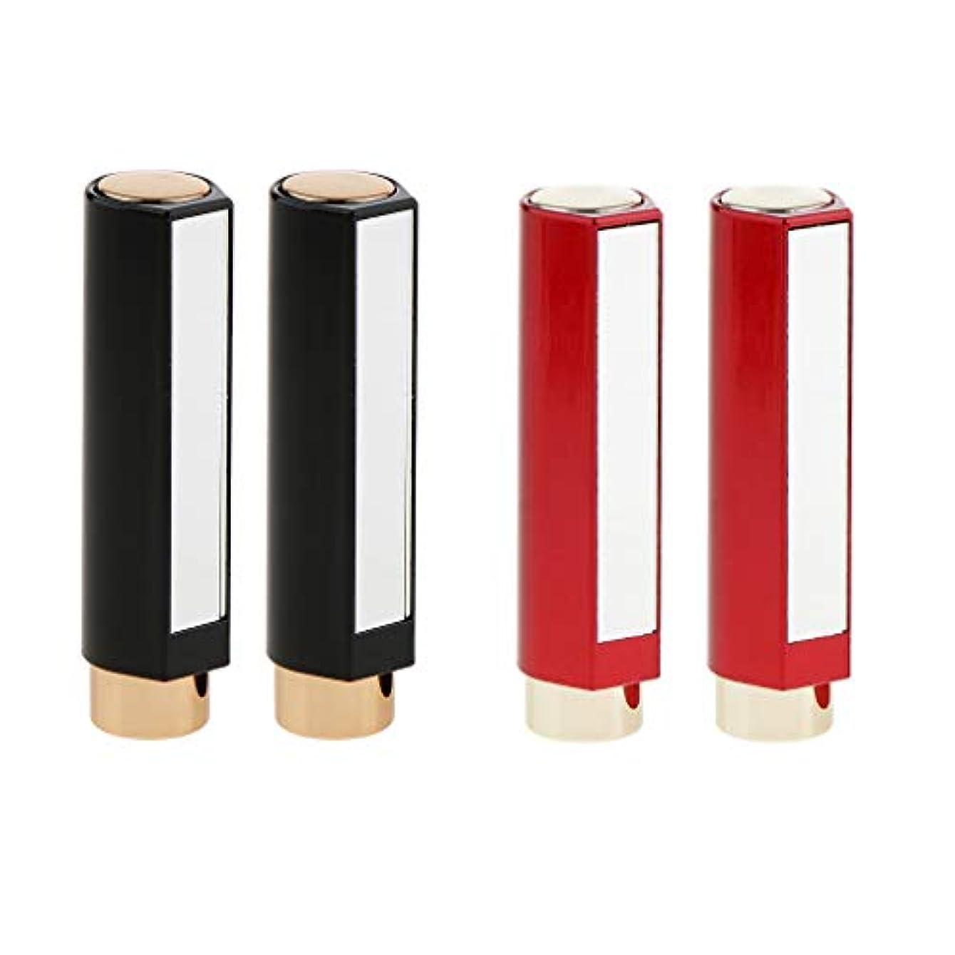 プレゼント確かめる指B Baosity 4本 口紅チューブ 12.1MM リップクリーム メイクアップ 化粧品DIY