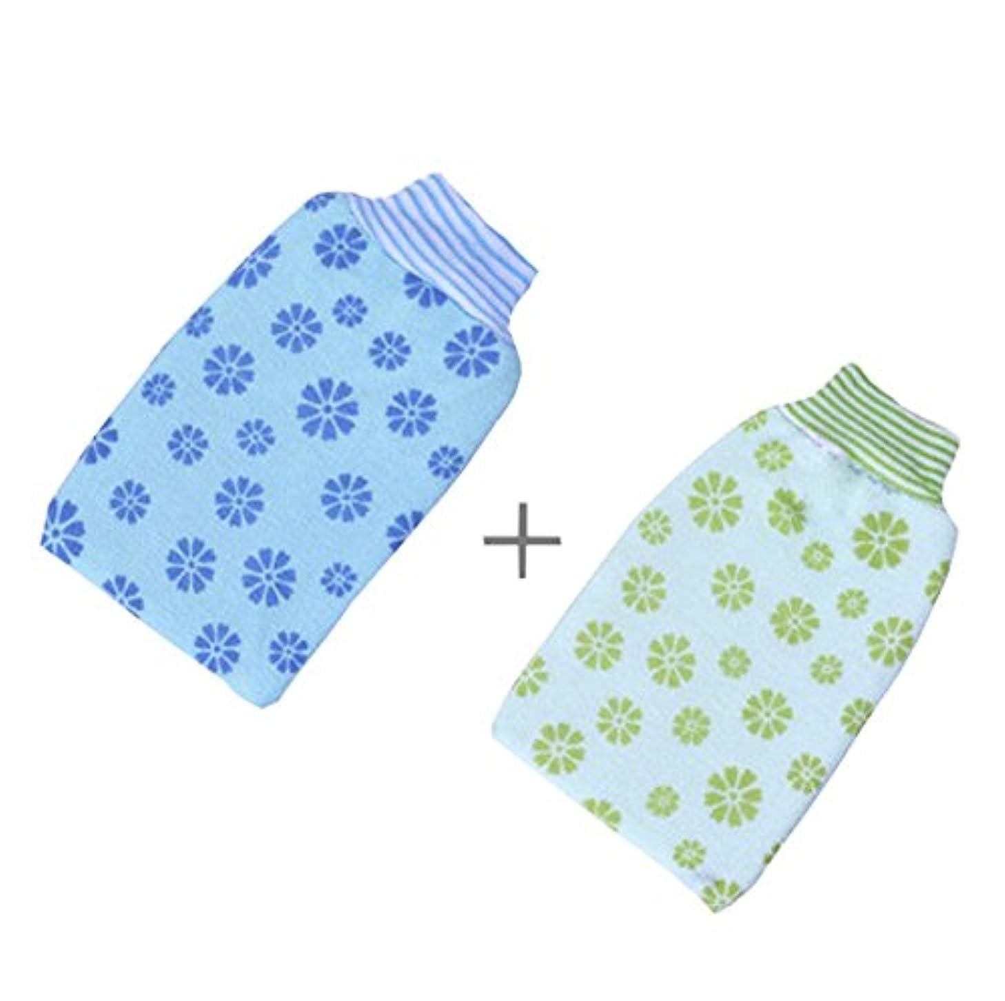 特権滝センチメンタルバスタオル大人用厚めの両面擦り手袋、印刷