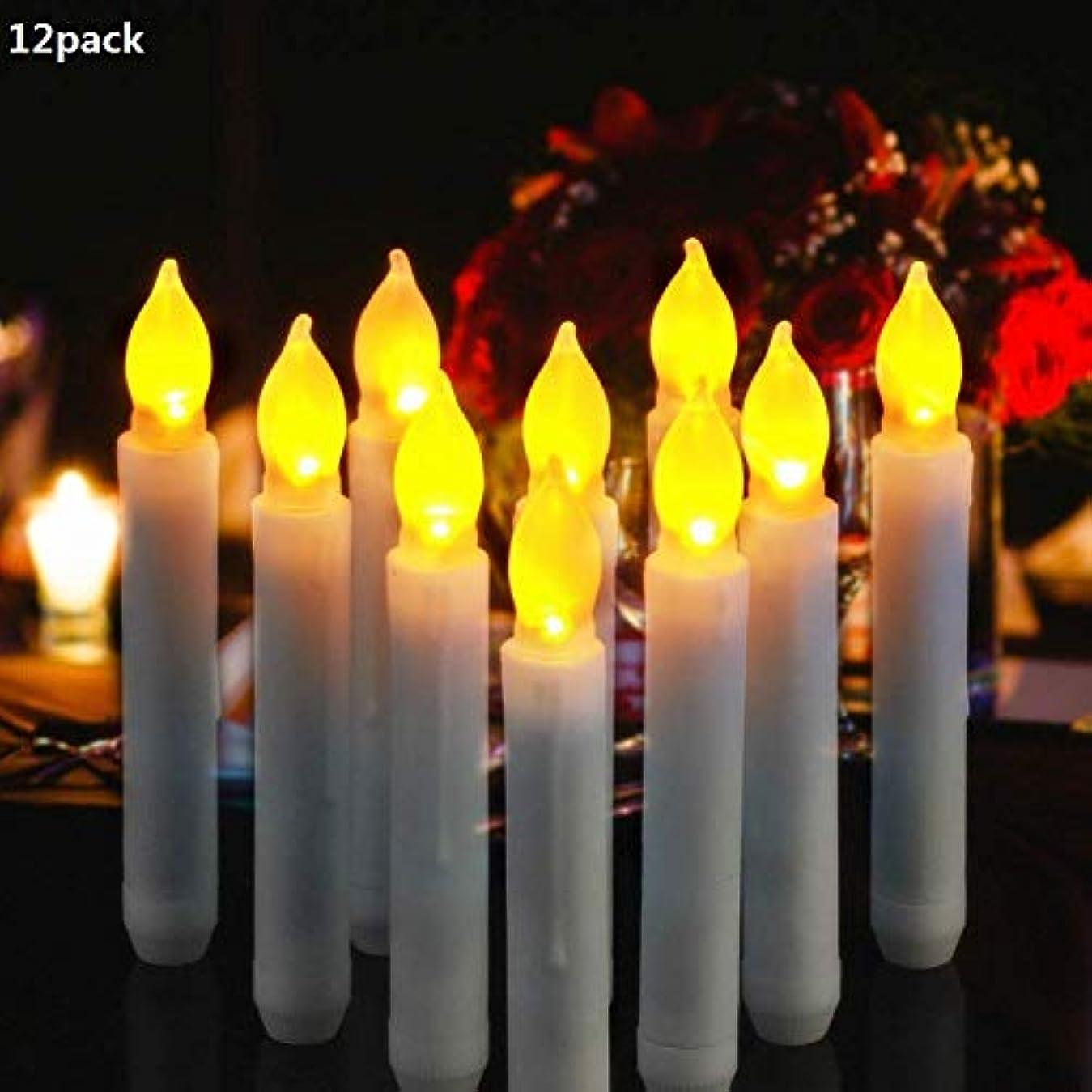 現れる防止奴隷LEDキャンドルスティックちらつきテーパFlamelessアイボリーホワイト、電気キャンドル12pcs Aセット、2 AA電池式、ホテル、バー、教会、ホーム、クリスマス、プロモーションギフト 02