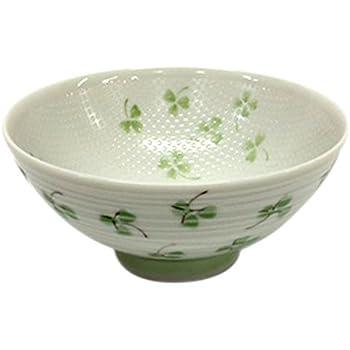 6ce359fad8ae シェーマ 粒つき飯碗 ごはん茶碗 クローバー 中 グリーン 約11.6×11.6×6.4cm ごはん粒がくっつきにくい「つぶつぶ加工」