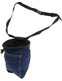 Lovoski デニム ロッククライミング チョークバッグ 収納バッグ ポーチ ウエストベルト 巾着