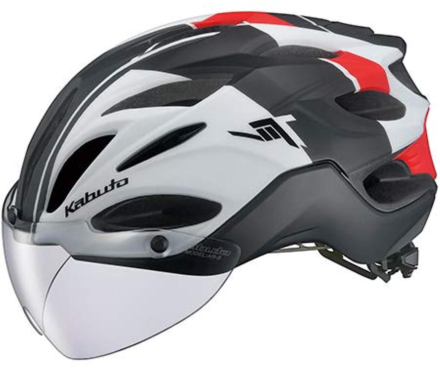 登場前者統治可能OGK Kabuto オージーケーカブト VITT ヴィット Lサイズ G-1マットホワイトレッド ヘルメット