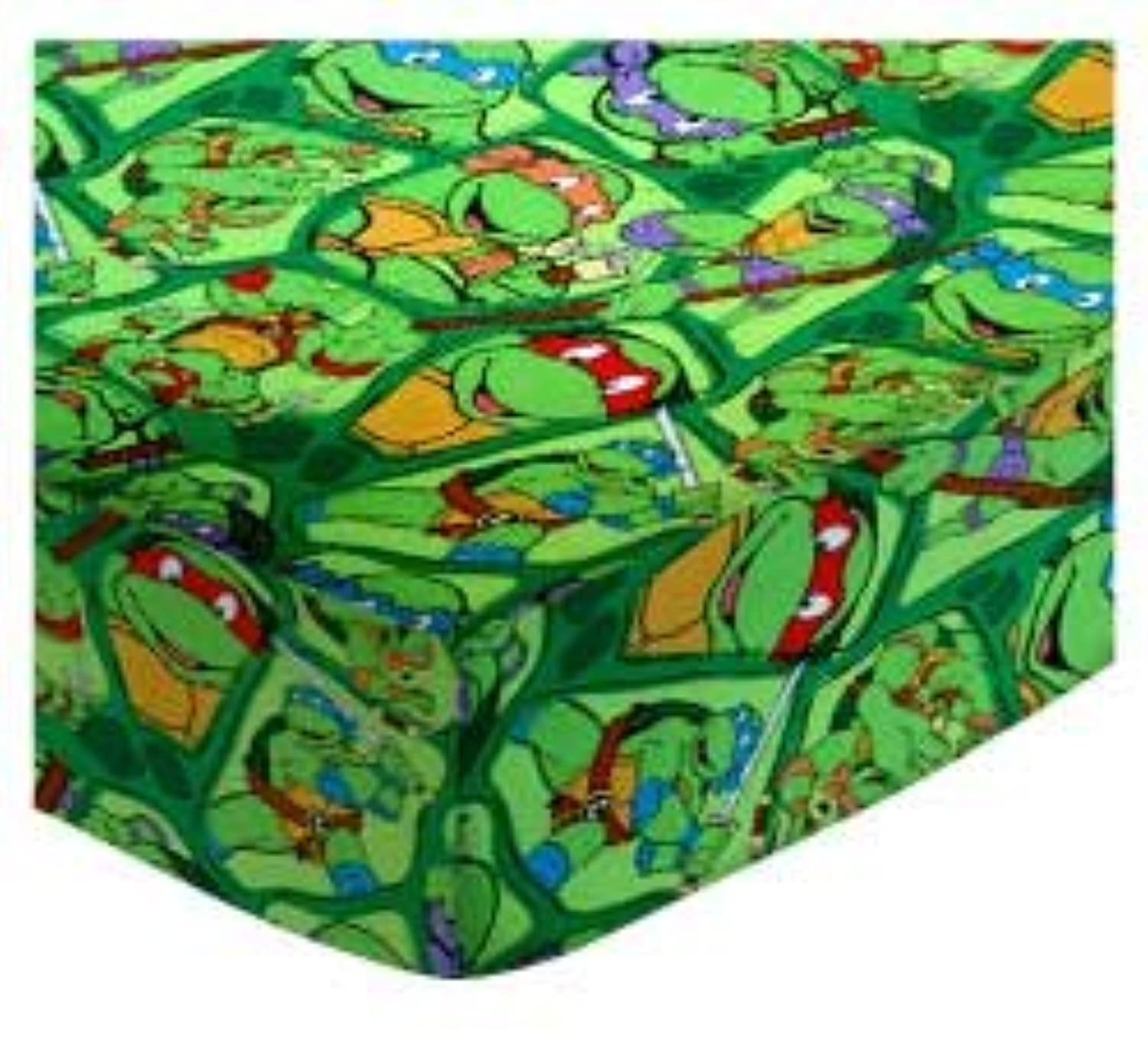 SheetWorld Fitted Cradle Sheet - Ninja Turtles - Made In USA by sheetworld