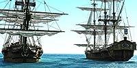 20 x 10フィート 海辺の海賊船 背景幕 写真 古代セーリング 船 ブルー オーシャン フォトブース 背景 スタジオ撮影小道具