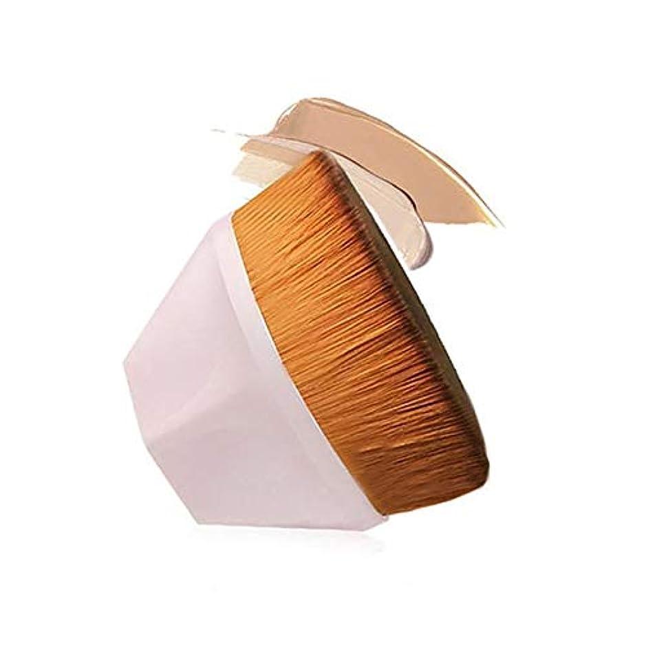 憂慮すべき指紋姉妹CHANGYUXINTAI-HUAZHUANGSHUA 六角BeFoundation六角美化粧ブラシ、初心者や専門家のためのコンシーラー。 (Color : Beige)