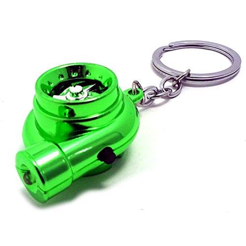 (maxima★select) タービン 型 LED ミニ ライト 搭載 キーホルダー 音 付き 動作確認済み (緑 【 グリーン 】)