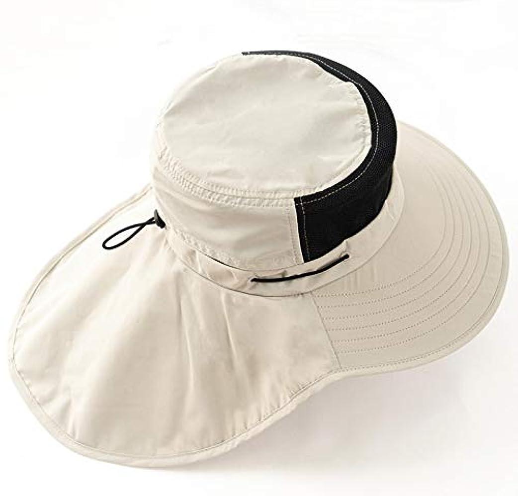 期限切れ嘆願罰日キャップはウォーキング、釣り、狩猟、キャンプ用の帽子ネックカバーサンプロテクション釣り 釣具 アングリング (Color : Khaki)