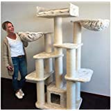 Cat Tree for Large Cats ? Cat Empire Beige ? 183cm 60kg 15cm ? poles ? Total size 120x60x183cm ? Cat Scratcher scratching post activity center Cat Trees for large cats. Quality product from Cat Tree King
