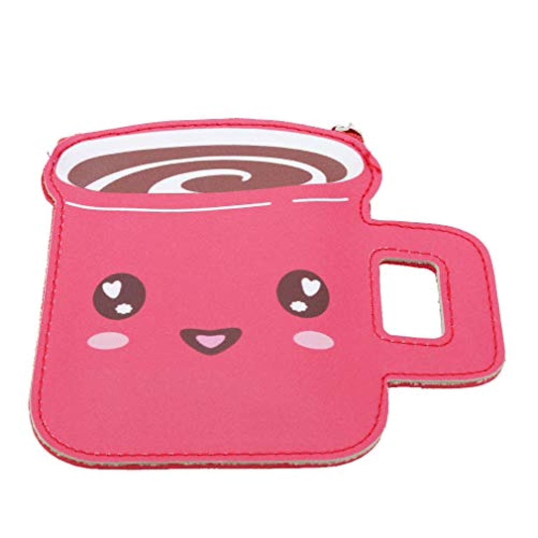 Underleaf クリエイティブコーヒーカップキッズカワイイ財布の女の子の漫画のミニ財布の女性PUレザーキーカードバッグ