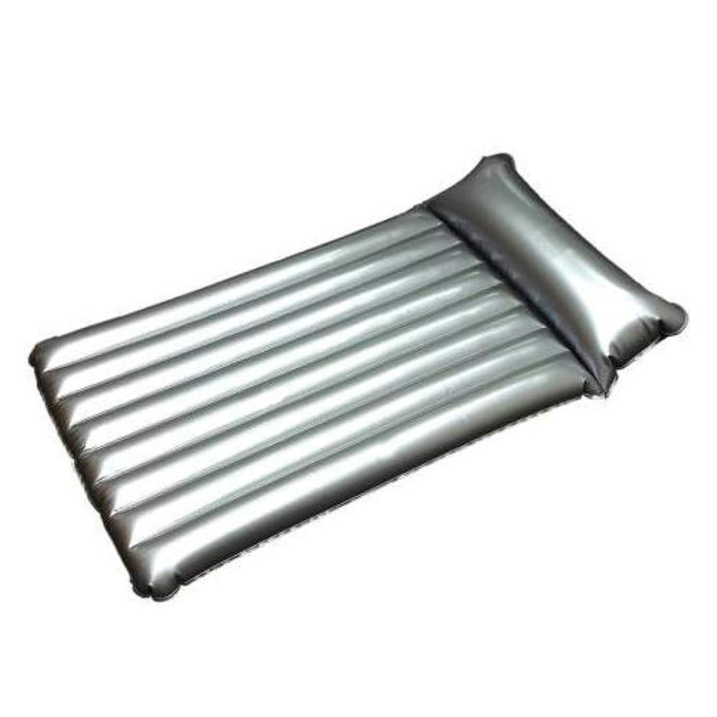 熱心なタール圧縮する業務用本格エアーマットシルバー 8山両枕 mat-8sww│業務用マットエアマット