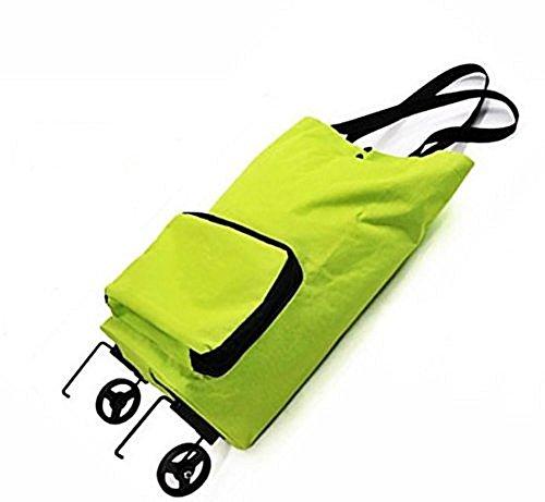 キャリー エコバッグ グリーン 補助足搭載 コンパクト 携帯 お買い物 折り畳み式 キャスター搭載 ショッピングバッグ カート