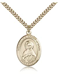 Immaculate Heart of Maryペンダント – ゴールドメッキImmaculate Heart of MaryペンダントIncluding 24インチネックレス
