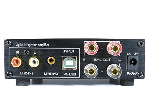 FX-AUDIO- YD-202J YDA138デジタルアンプIC搭載デュアルモノラル駆動式デジタルプリメインアンプ (ブラック)