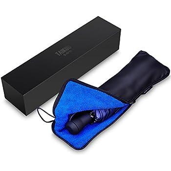 折りたたみ傘 軽量 TAIKUU おりたたみ傘 手動開閉 折り畳み傘 メンズ 軽量  235g Teflon超撥水 晴雨兼用 傘カバー付き T8 Light (ブルー)