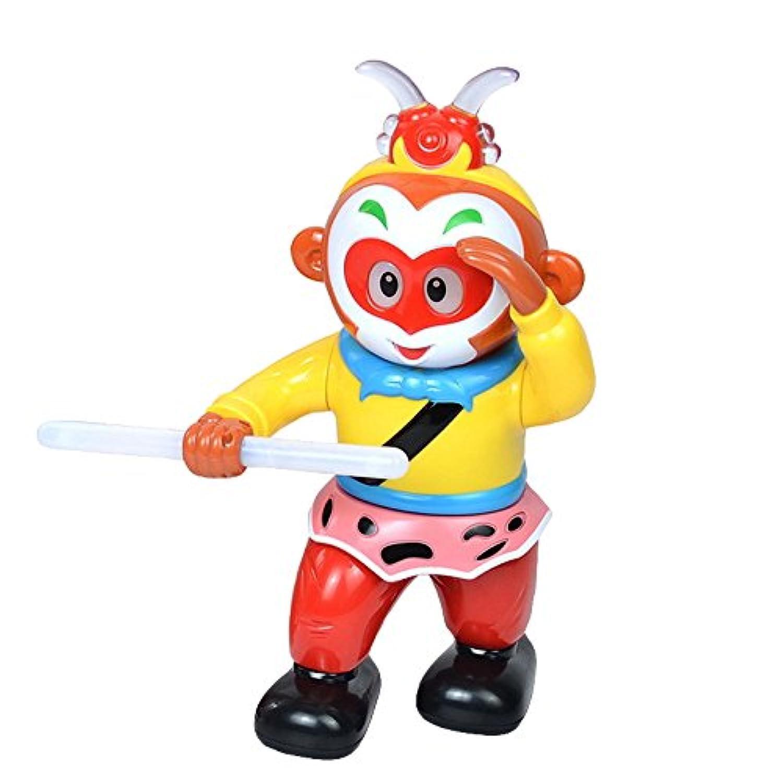 Linshop 子供電動回転ダンスを詠唱している猿ロボット玩具