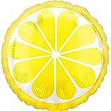 アルミ風船 トロピカルレモン 17インチ(約43cm) ガス無し(風船単品)1枚