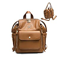 Mini Backpack by miss fong, Small Backpack Purse for Women with In bag organizer, Insulated Pocket and Handle Straps