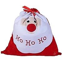 Seea-junop クリスマス クロース クリスマス キャンディ ギフトバッグ ベルベット ドローストリング パーティー デコレーション (レッド)