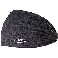 (ゾアノ) ZOANO ヘッドバンド レディース スポーツヘアバンド 男女兼用 ターバン 汗止め 無地 14色