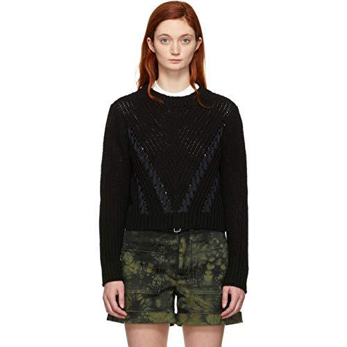 3.1 Phillip Lim (スリーワン フィリップ リム) レディース トップス ニット・セーター Black Cropped Sweater サイズL [並行輸入品]