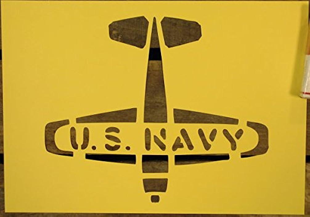霊ただ不満【紙製 ステンシル シート】 U.S.NAVY アメリカ海軍 ミリタリー