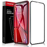 RANVOO iPhone XR ガラスフィルム 6D全面保護フィルム 外側PETで端が割れにくい 日本製素材旭硝子製 耐衝撃性能5倍 最強硬度9H キズ防止 ガイド枠付き 貼り付けスムーズ 高透過率 指紋防止