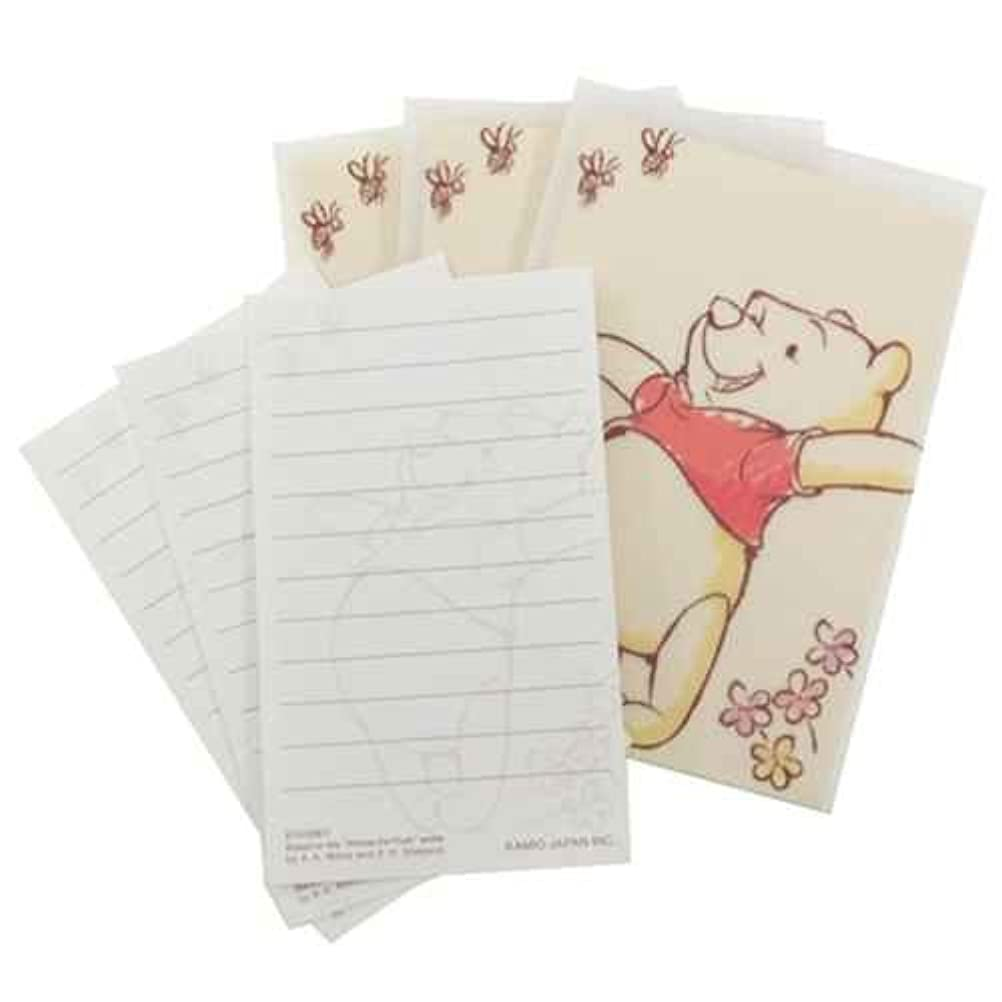 ストレス調整するこしょうカミオジャパン プチレターセット(ミニ封筒&ミニ便箋) 15774 プーさん