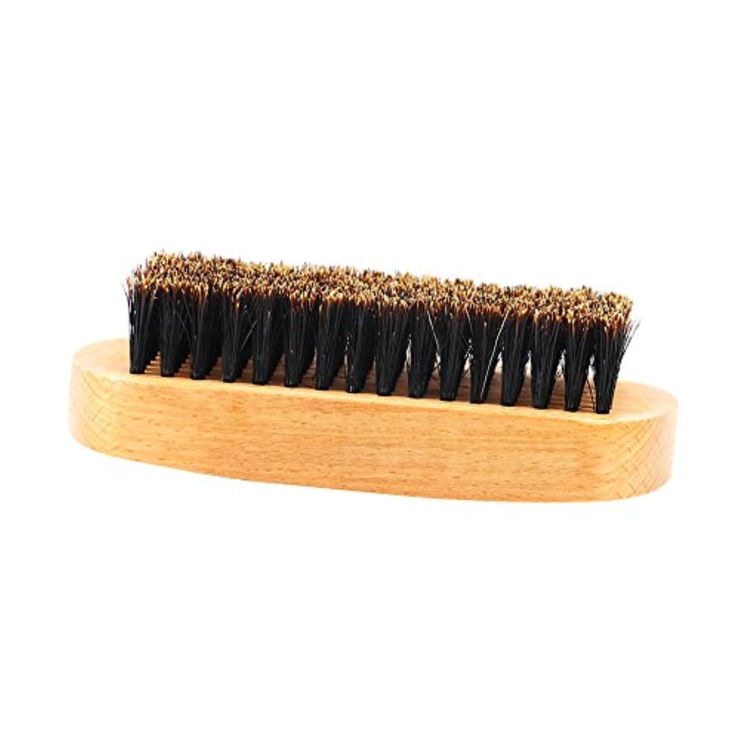ハム腹用語集CUTICATE 人の口ひげのスタイリングの手入れをすることのための木のハンドルのひげのブラシのイノシシの剛毛 - #1