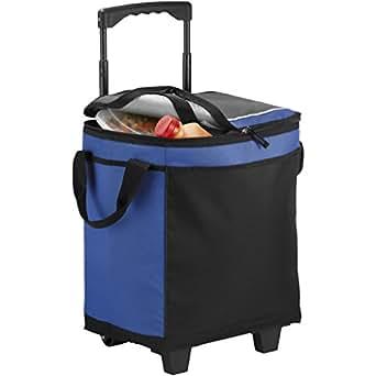 (カリフォルニア・イノベーションズ) California Innovations 缶32本収納可 キャスターつき クーラーバッグ 保冷バッグ かばん (29.5 x 20.8 x 36.5cm) (ロイヤルブルー/ソリッドブラック)