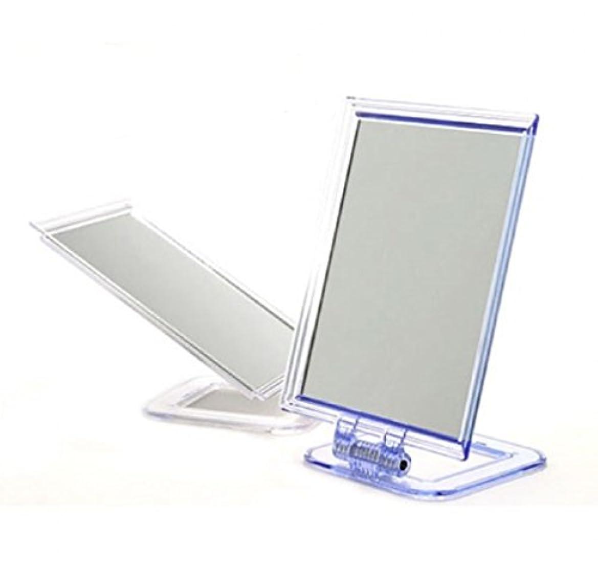 一人で進むコード卓上サイズ 置き鏡 スタンドミラー 化粧 必需品 シンプル 便利 パラデック 折りたたみ式 ミラー