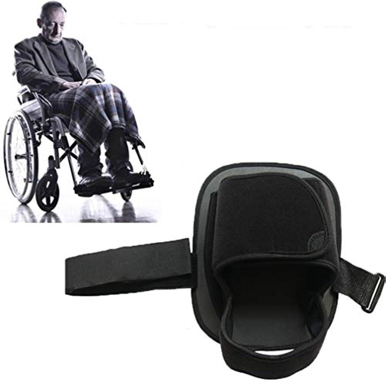 因子練習ガラス車椅子靴ホルダーストラップ安全拘束シューズ(1ペア)高齢者の患者のための車いすペダルフット休符から滑り落ちるの足をキープ