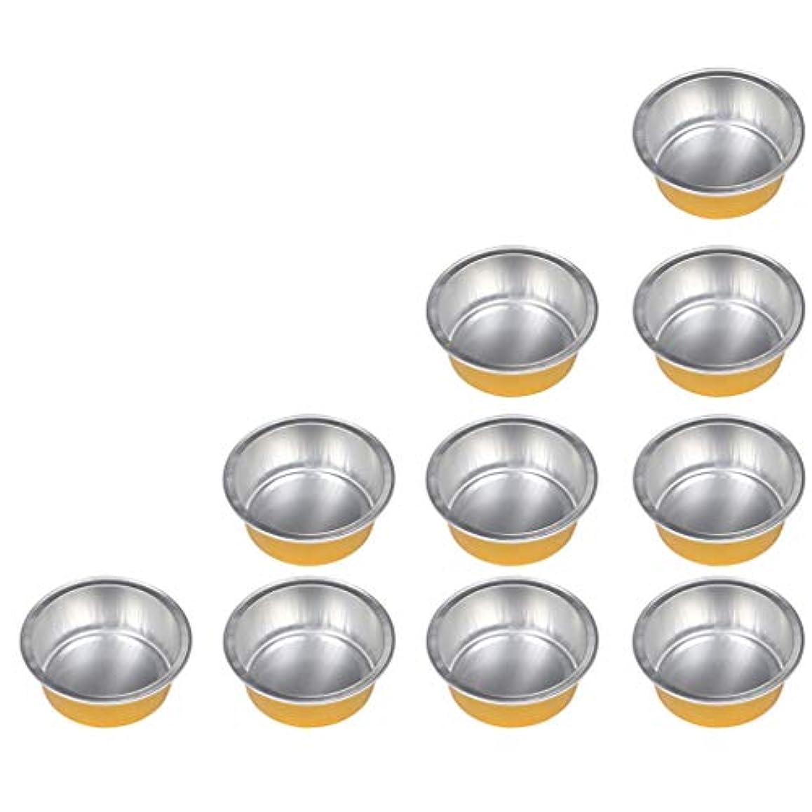 コカイン球体情緒的アルミホイルボウル 脱毛 毛除去 10個セット ミニ ワックス豆体 融解 2種選ぶ - ゴールデン1, 01