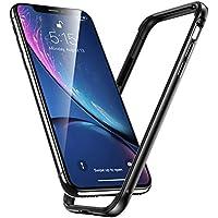 ESR iPhone XR ケース バンパー 6.1インチ [アルミ+シリコン 二重構造] 衝撃吸収 薄型 軽量 ストラップホール付き 電波に影響無し 耐衝撃バンパーケース (ダックグレー)