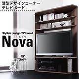 IKEA・ニトリ好きに。ハイタイプコーナーテレビボード【Nova】ノヴァ | ブラック