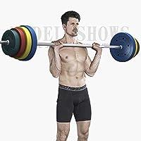 DoubleZhou バーベル カラー バーベルシャフト グリップ 滑り止め加工 重さ調節可能 筋トレ トレーニング (20kg 30kg 40kg 50kg 60kg 70kg 80kg 90kg 100kgセット)