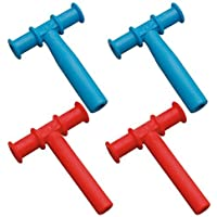 Chewy Tubes Teether, 4 Pack - Blue/Red [並行輸入品]