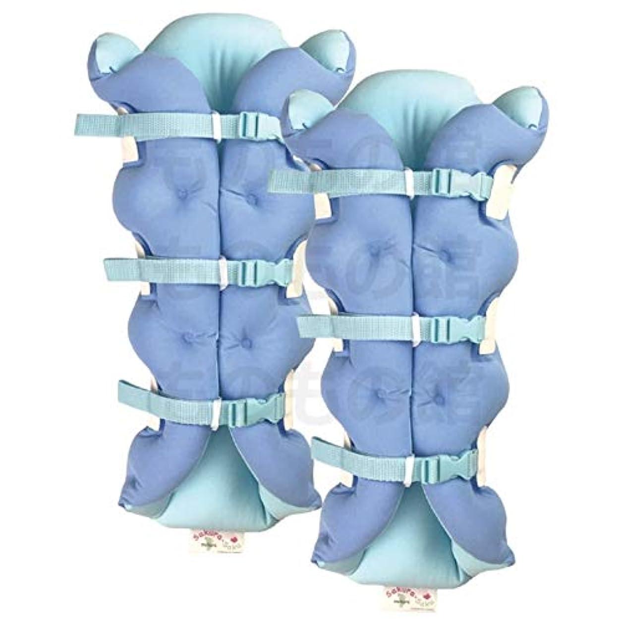 小数粒子繊維サクラ咲く足まくら EVOLUTION (両足セット) ブルー